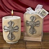 FashionCraft Large Cross Design Tealight Candle Holder