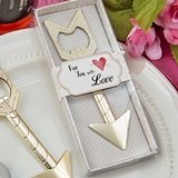 "FashionCraft ""Cupid's Arrow"" Golden-Metal Bottle Opener"