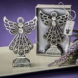 FashionCraft Pewter-Finish Angel Statue with Antique Accents