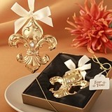 Fleur de Lis Design Shiny Gold-Colored Ornament by FashionCraft