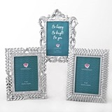 Baroque-Style Pearl-Silver-Finish 4x6 Frames (Assorted Set of 3)