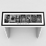 Architectural Elements III Black & White Family Name Print