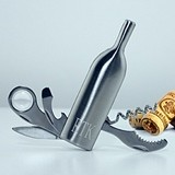 Personalized Wine-Bottle-Shaped Multi-Use Wine Tool