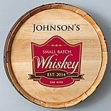 Personalized Whiskey Barrel Signs (5 Designs)