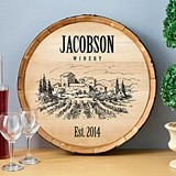 Personalized Wooden Wine Barrel Signs (9 Designs)