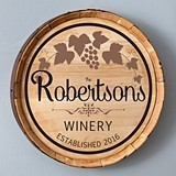 Personalized Wooden Cabernet Wine Barrel Home Decor Sign