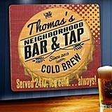 Personalized Wood Tavern and Bar Signs (5 Designs)