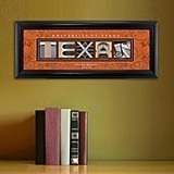 Personalized Big 12 Collegiate Framed Architecture Print