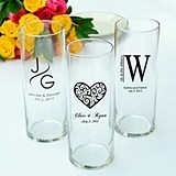 Stunning Personalized Large Reception Vases (Set of 6)