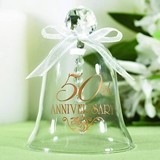 Hortense B Hewitt 50th Anniversary Glass Bell