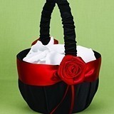 Hortense B Hewitt Midnight Rose Collection Flower Girl Basket