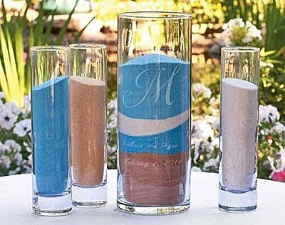 Deluxe 4-Piece Personalized Sand Ceremony Cylinders Set