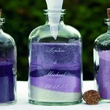 4-Piece Vintage Personalized Sand Unity Ceremony Decanters Set