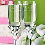 Hortense B Hewitt Personalized Calla Lily Design Flutes (Set of 2)