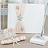 Destination Romance Collection Guest Book and Pen Set with Garters