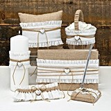 Hortense B Hewitt Rustic Romance Collection Wedding Accessories Set