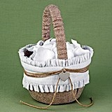 Hortense B Hewitt Rustic Romance Collection Flower Girl Basket