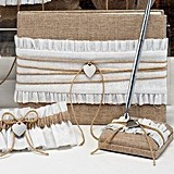 Rustic Romance Collection Guest Book and Pen Set with Garters