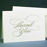 Hortense B Hewitt Silver Script Thank You Cards (Set of 50)