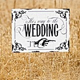 Hortense B Hewitt Vintage-Design This Way to the Wedding Yard Sign