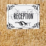 Hortense B Hewitt Vintage-Look This Way to the Reception Yard Sign