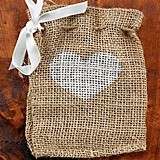 Hortense B Hewitt Heart Design Burlap Favor Bags (Set of 25)