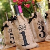 Hortense B Hewitt Burlap Wine Bag Table Numbers (Numbers 1 - 10)