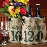 Hortense B Hewitt Burlap Wine Bag Table Numbers (Numbers 11 - 20)