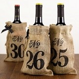 Hortense B Hewitt Burlap Wine Bag Table Numbers (Numbers 21 - 30)