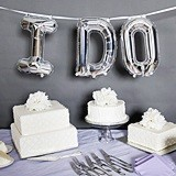 "Hortense B Hewitt ""I DO"" Balloon Kit w/ Large Silver Letters"