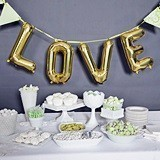 Hortense B Hewitt LOVE Balloon Kit with Large Gold Letters