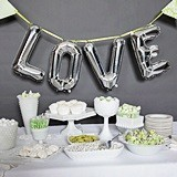 Hortense B Hewitt LOVE Balloon Kit with Large Silver Letters