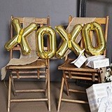 Hortense B Hewitt XOXO Balloon Kit with Large Gold Letters