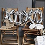 Hortense B Hewitt XOXO Balloon Kit with Large Silver Letters