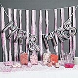Hortense B Hewitt MR & MRS Balloon Kit with Large Silver Letters