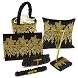 Hortense B Hewitt Golden Vintage Collection Wedding Accessories Set