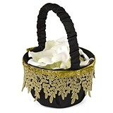 Hortense B Hewitt Golden Vintage Collection Flower Girl Basket
