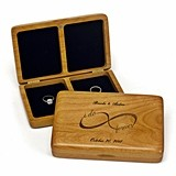 Personalized I Do Forever Infinity Design Wooden Ring Box