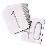 Hortense B Hewitt Silver Foil Table Number Cards (Numbers 1 - 40)