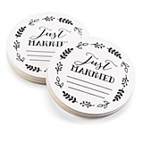 Fern Border Design Just Married Advice Coasters (Set of 25)