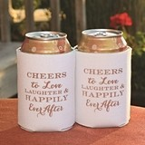 Cheers to Love Laughter & Happily Ever After Can Coolers (Set of 2)