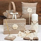 Hortense B Hewitt Rustic Country Collection Wedding Accessories Set