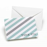 Vibrant Simple Stripe Thank You Cards (3 Colors) (Set of 50)