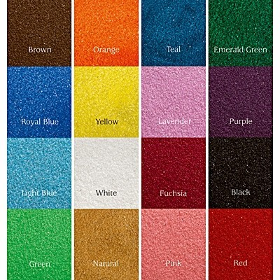 Hortense B Hewitt Colored Sand for Sand Unity Ceremony Set (16 Colors)