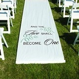 Hortense B Hewitt And The Two Shall Become One Aisle Runner (White)