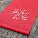 Hortense B Hewitt Happily Ever After Starts Here Aisle Runner (Red)