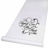 Hortense B Hewitt Happily Ever After Starts Here Aisle Runner (White)