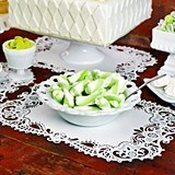 White Laser-Cut-Lace Paper Place Mats (Package of 12)