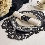 Black Laser-Cut-Lace Paper Place Mats (Package of 12)
