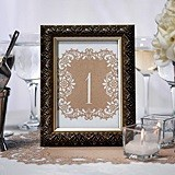 Kraft-Paper Laser-Cut Table Number Cards (Numbers 1-10)